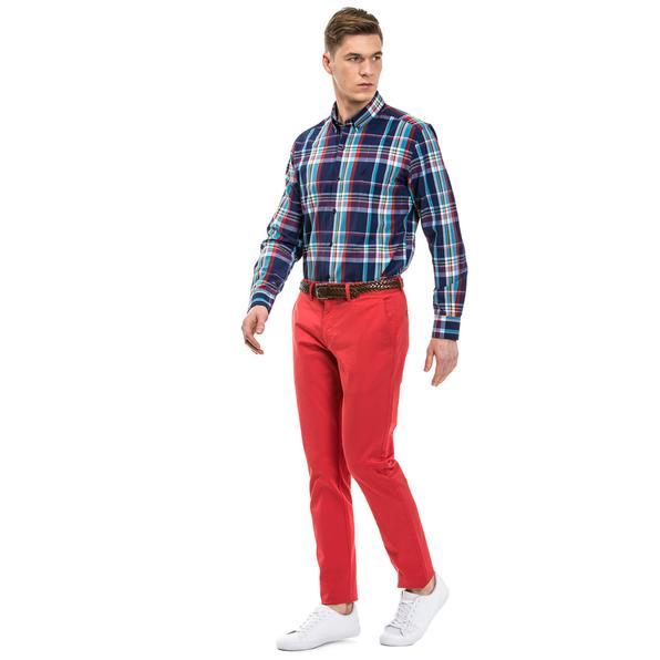 Nautica Erkek Slim Fit Kırmızı Pantolon