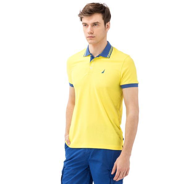 NAUTICA Erkek Slim Fit Sarı Polo