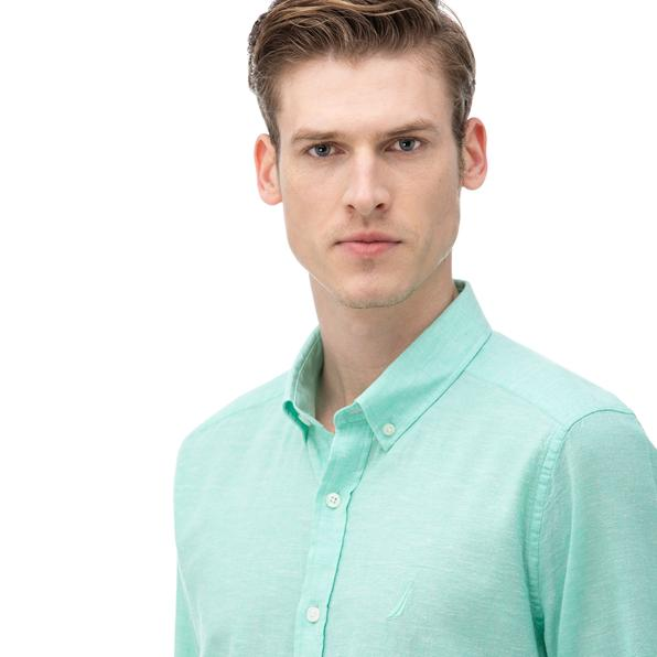 NAUTICA Erkek Slim Fit Yeşil Gömlek
