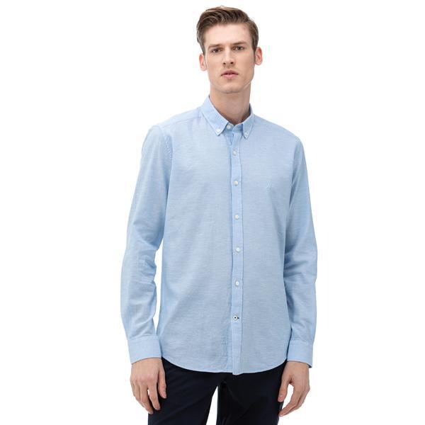 NAUTICA Erkek Slim Fit Mavi Gömlek