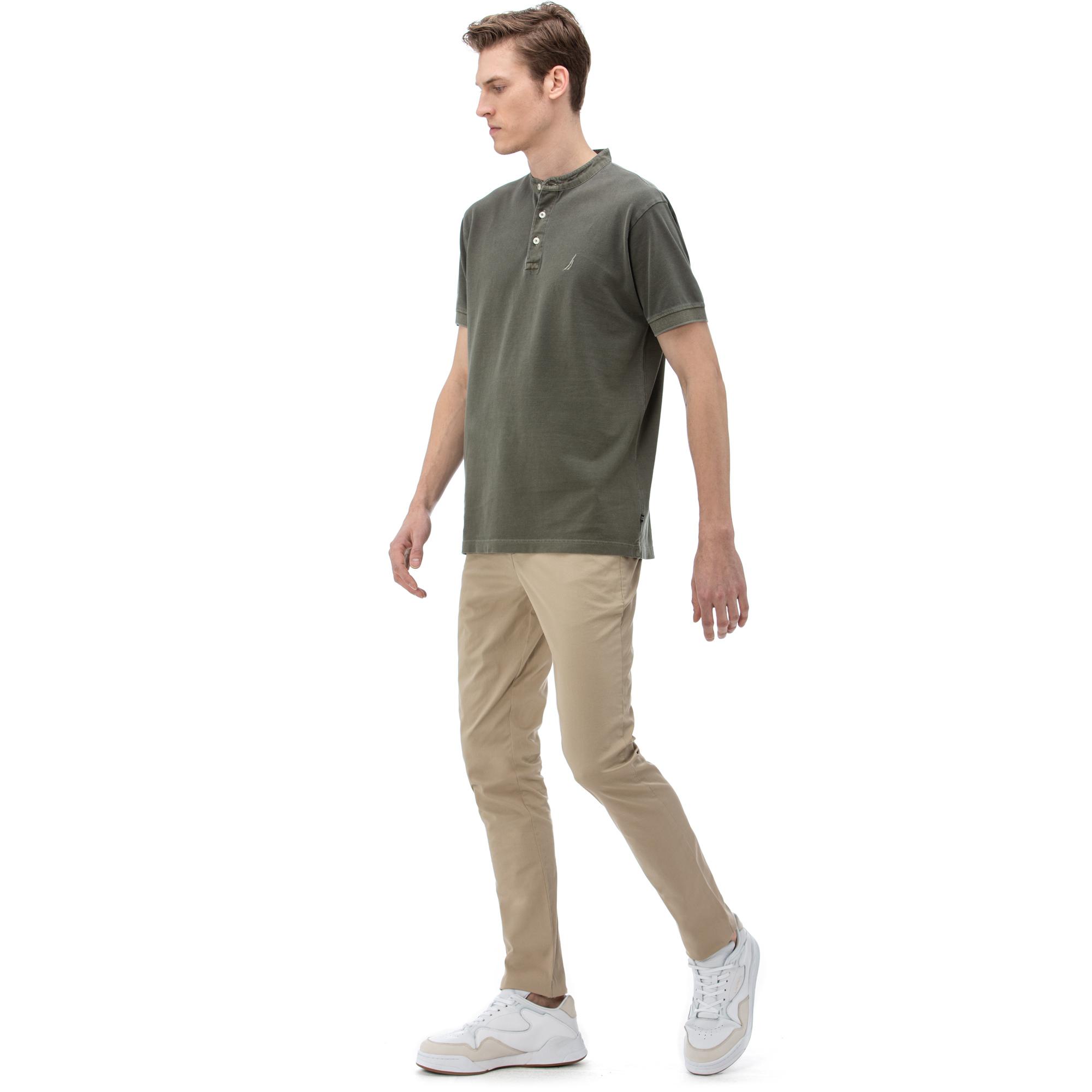 NAUTICA Erkek Slim Fit Bej Chino Pantolon
