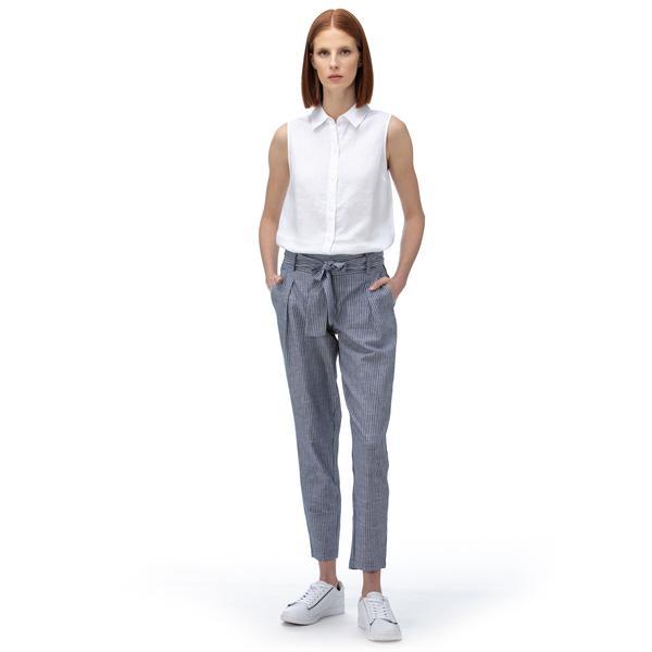NAUTICA Kadın Lacivert Çizgili Pantolon