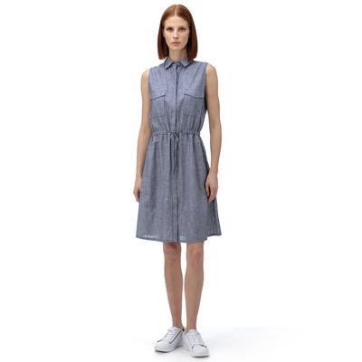 NAUTICA Kadın Lacivert Çizgili Elbise