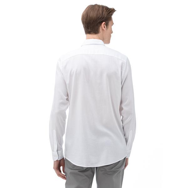 NAUTICA Erkek Slim Fit Beyaz Gömlek