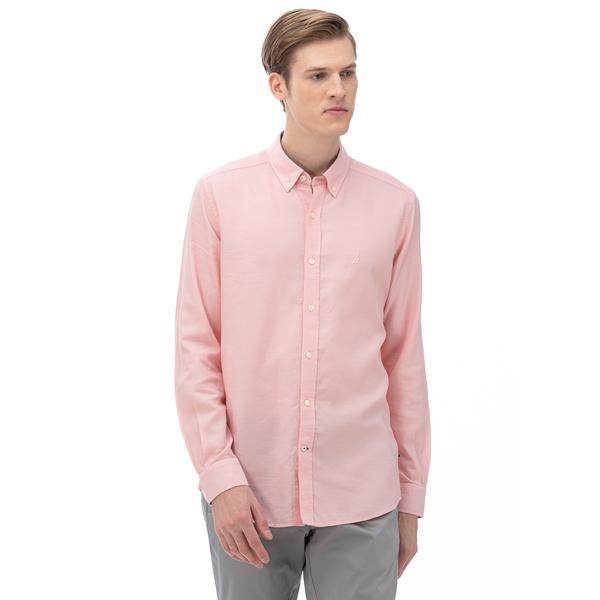 NAUTICA Erkek Slim Fit Pembe Gömlek