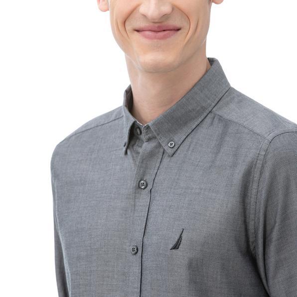 NAUTICA Erkek Slim Fit Siyah Gömlek