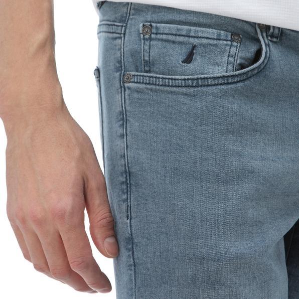 NAUTICA Erkek Slim Fit Gri Denim Pantolon