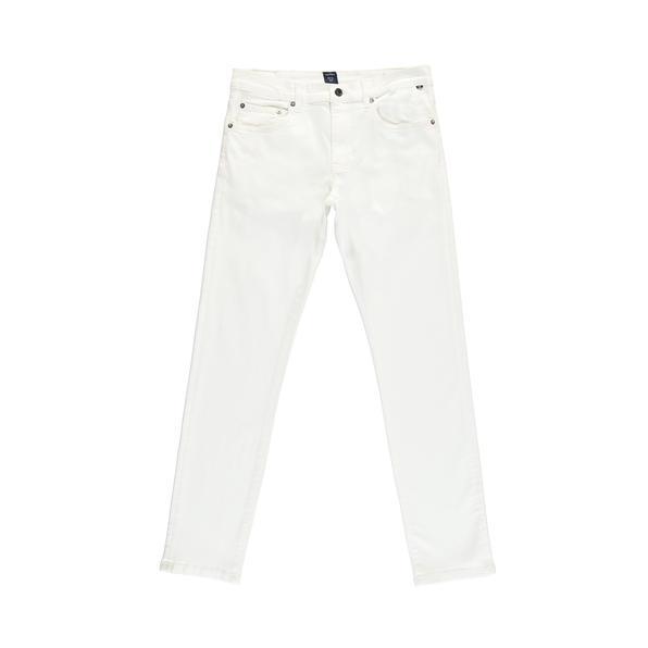 NAUTICA Erkek Slim Fit Beyaz Denim Pantolon