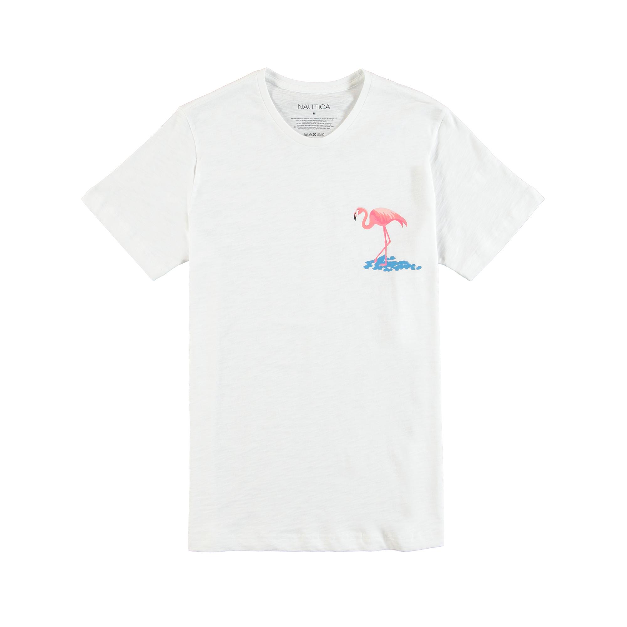 NAUTICA ERKEK Beyaz T-SHIRT