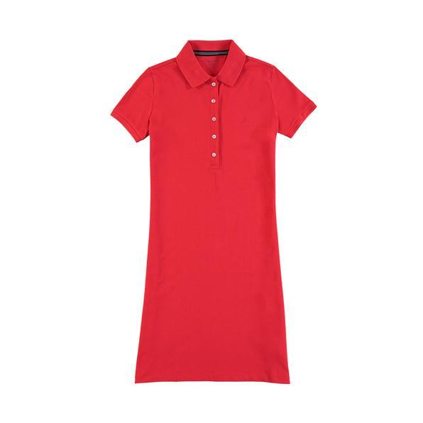 NAUTICA Kadın Kırmızı Polo Yaka Elbise