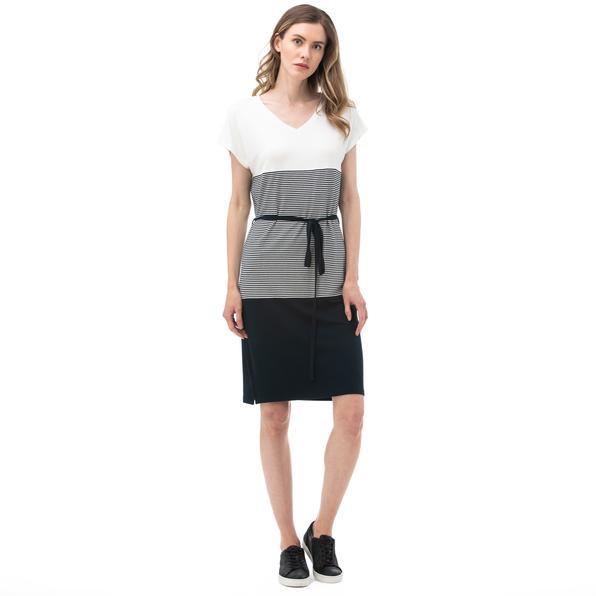 NAUTICA Kadın Lacivert V Yaka Elbise
