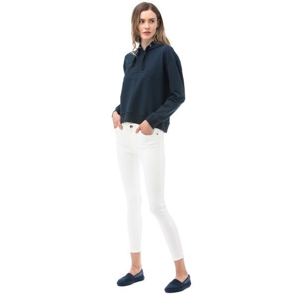 NAUTICA Kadın Slim Fit Beyaz Denim Pantolon