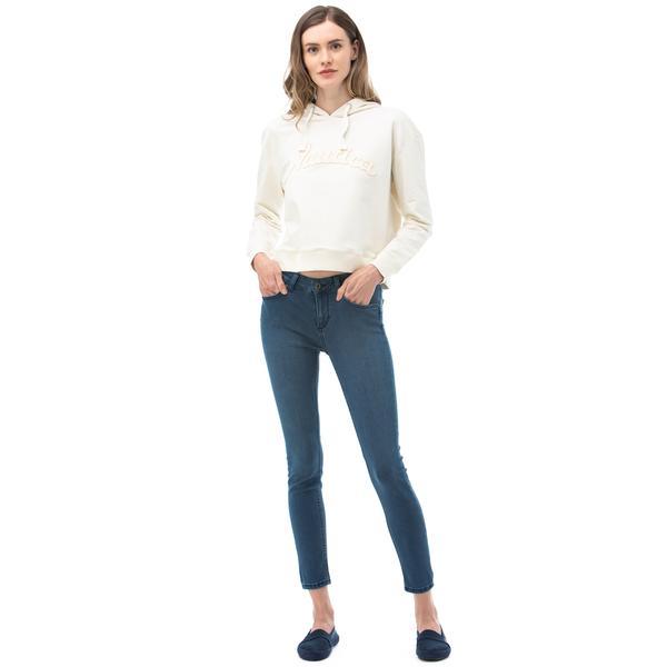NAUTICA Kadın Slim Fit Mavi Denim Pantolon