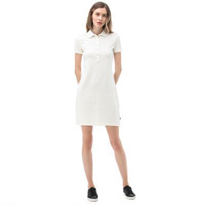 NAUTICA Kadın Kırık Beyaz Polo Yaka Elbise