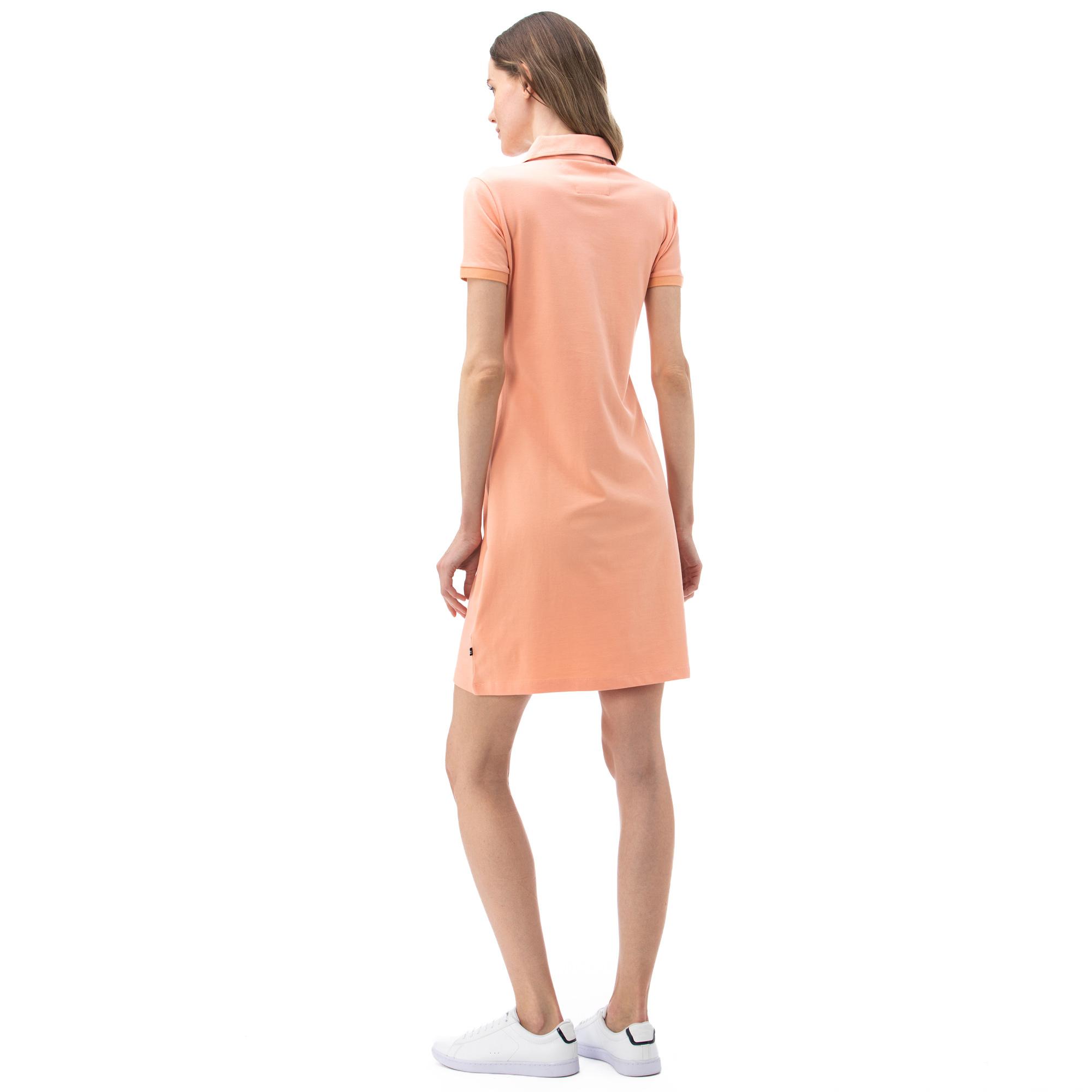 NAUTICA Kadın Pembe Polo Yaka Elbise