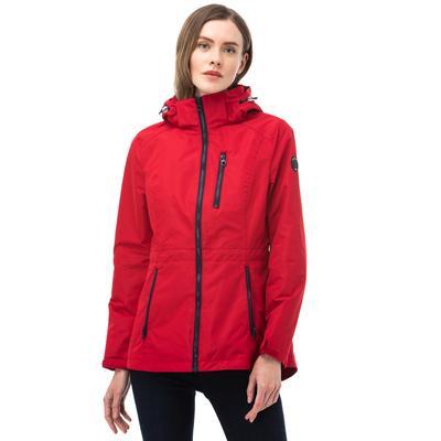 NAUTICA Kadın Kırmızı Kapüşonlu Yağmurluk