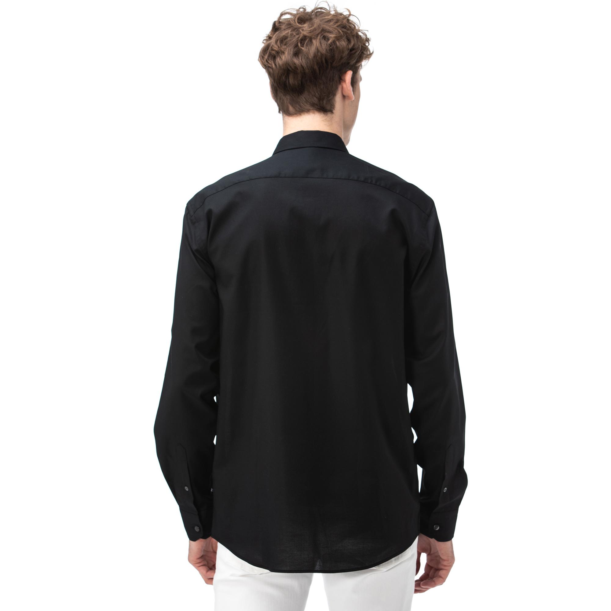 NAUTICA Erkek Siyah Classic Fit Gömlek