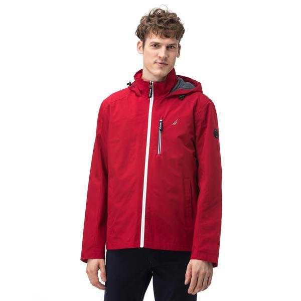 NAUTICA Erkek Kırmızı Rain-breaker Kapüşonlu Mont