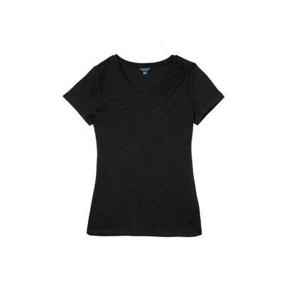NAUTICA Kadın Siyah V-Yaka T-Shirt