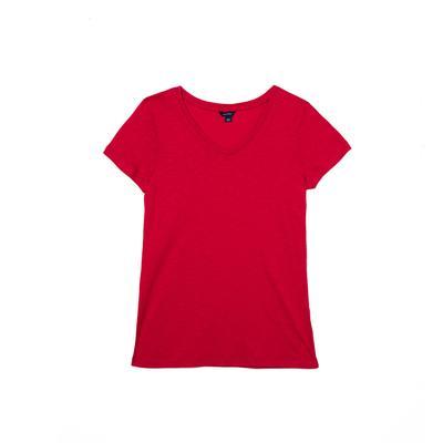 NAUTICA Kadın Kırmızı V-Yaka T-Shirt