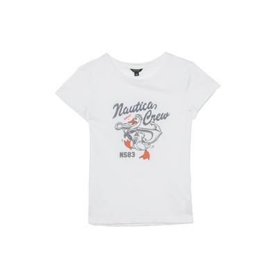 NAUTICA Kadın Relaxed Fit Beyaz T-Shirt