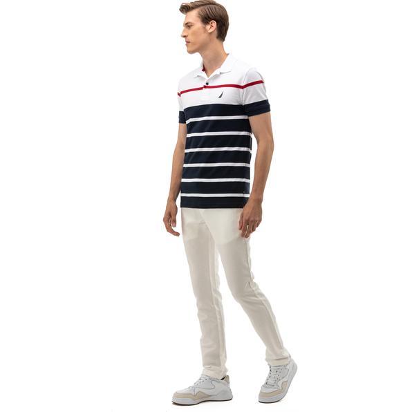 NAUTICA Erkek Classic Fit Kırık Beyaz Pantolon