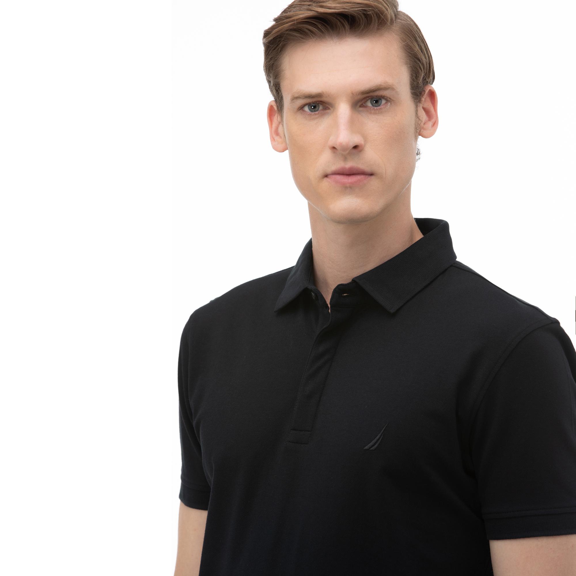 NAUTICA Erkek Slim Fit Siyah Polo