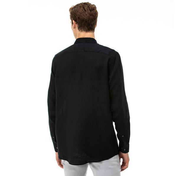 NAUTICA Erkek Classic Fit Siyah Gömlek