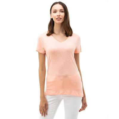 NAUTICA Kadın Pembe V-Yaka T-Shirt