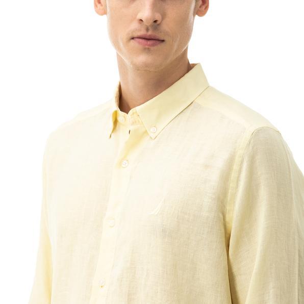 NAUTICA Erkek Classic Fit Sarı Gömlek