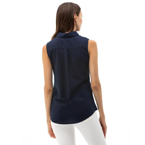 NAUTICA Kadın Mavi Kolsuz Gömlek