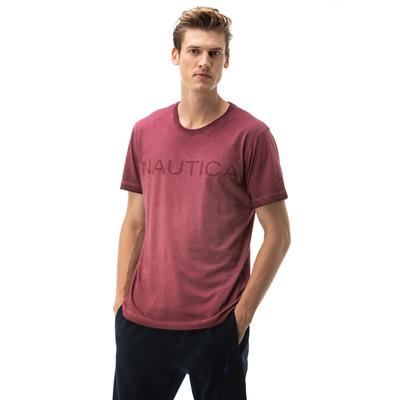 NAUTICA ERKEK BORDO KISA KOLLU SLIM FIT T-SHIRT