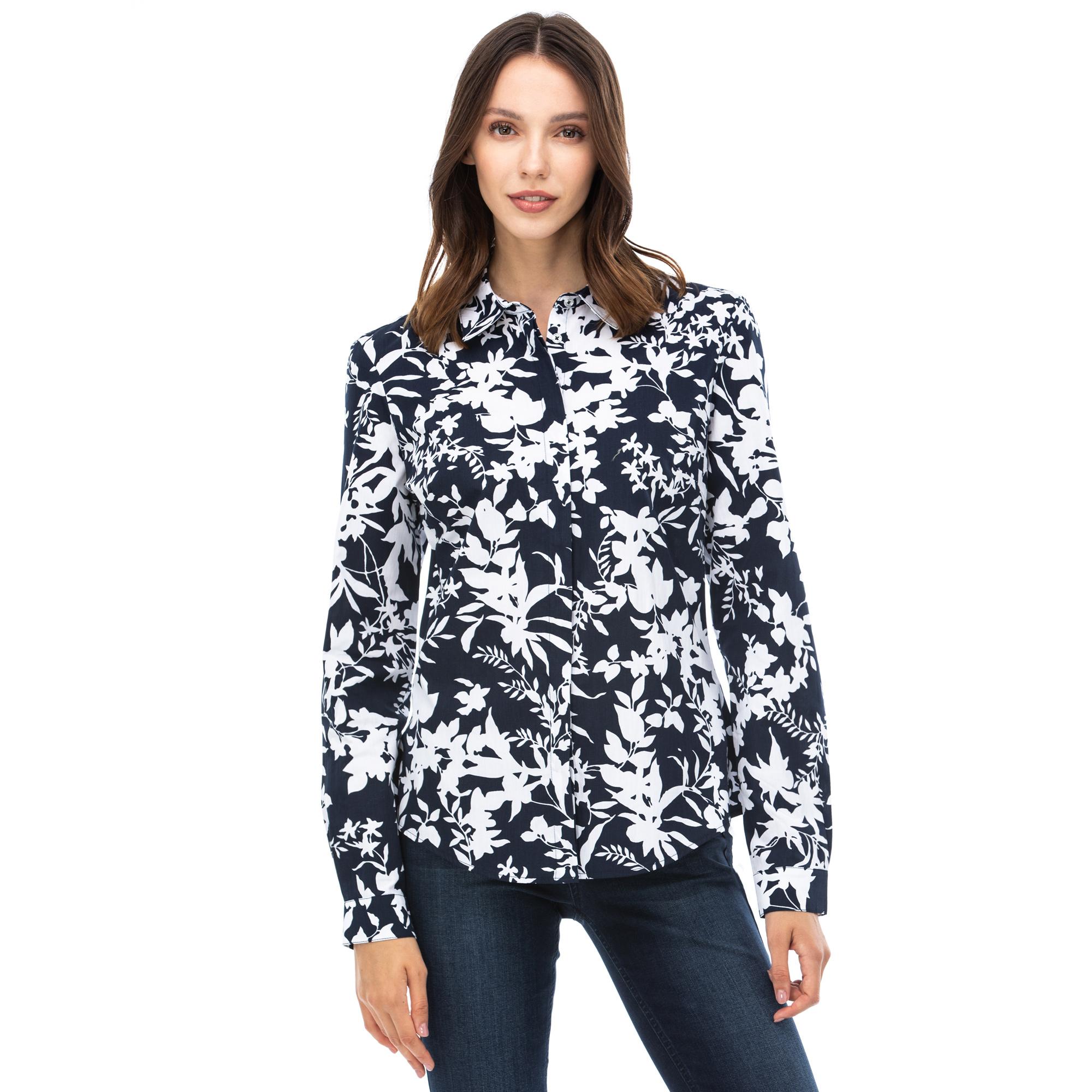 NAUTICA Kadın Lacivert Gömlek