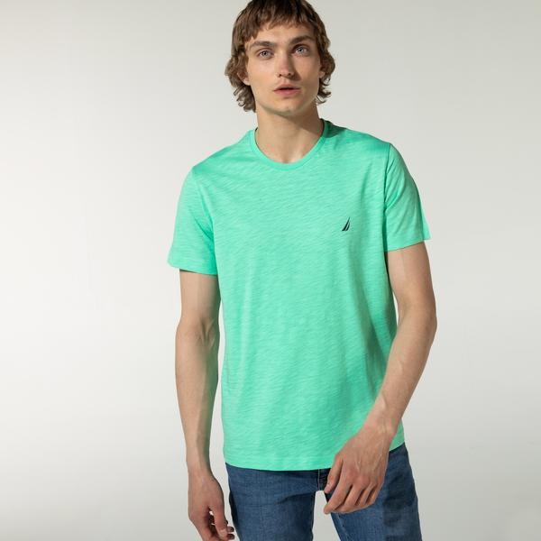 Nautica Erkek Slim Fit Bisiklet Yaka Yeşil T-Shirt