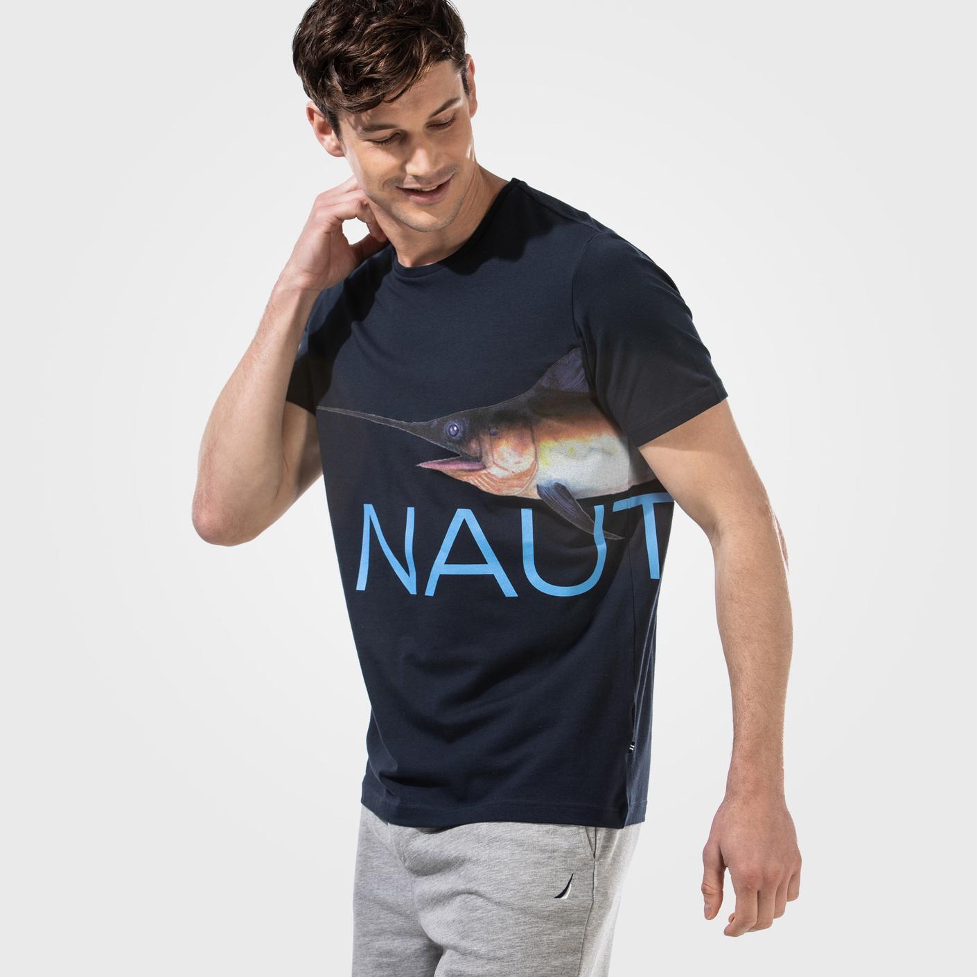 NAUTICA ERKEK LACİVERT T-SHIRT